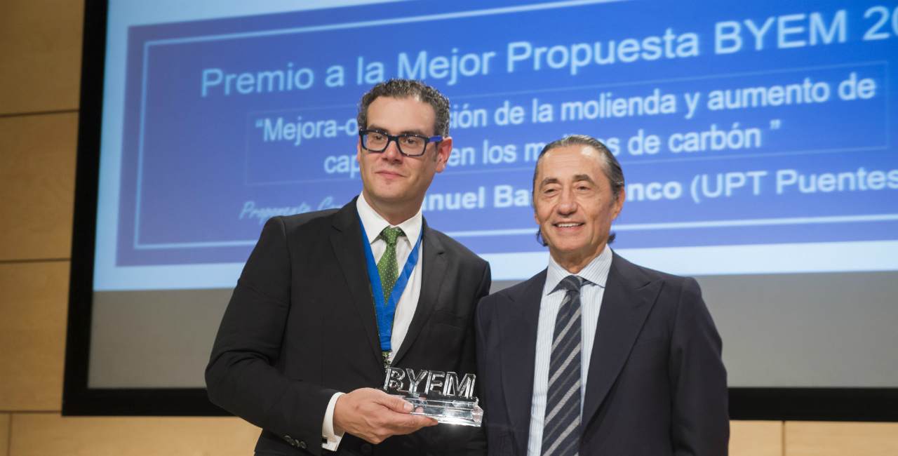 Manuel Barro, award for the best Global Proposal BYEM 2017.
