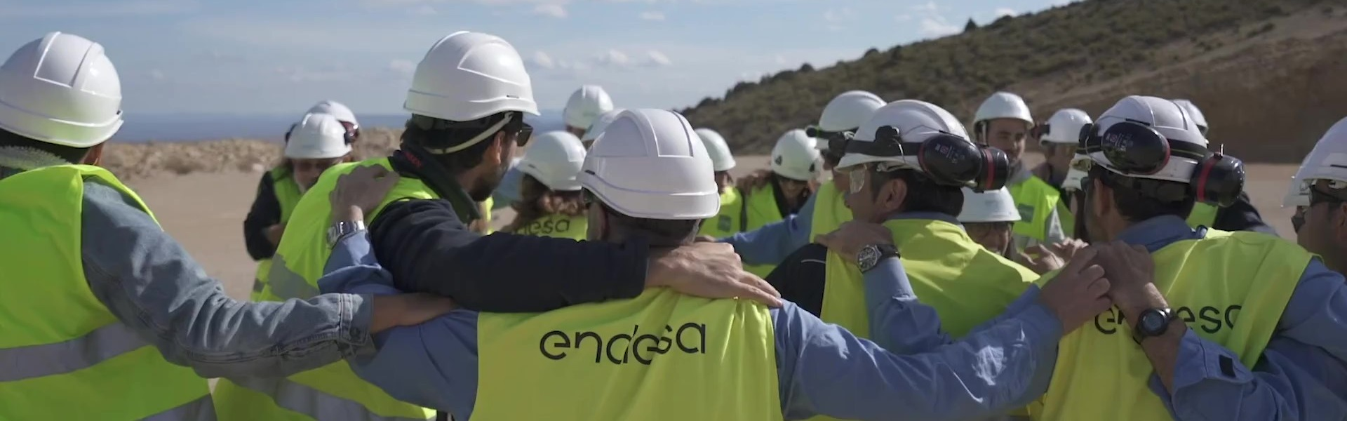 Endesa team that has worked on the construction of renewables