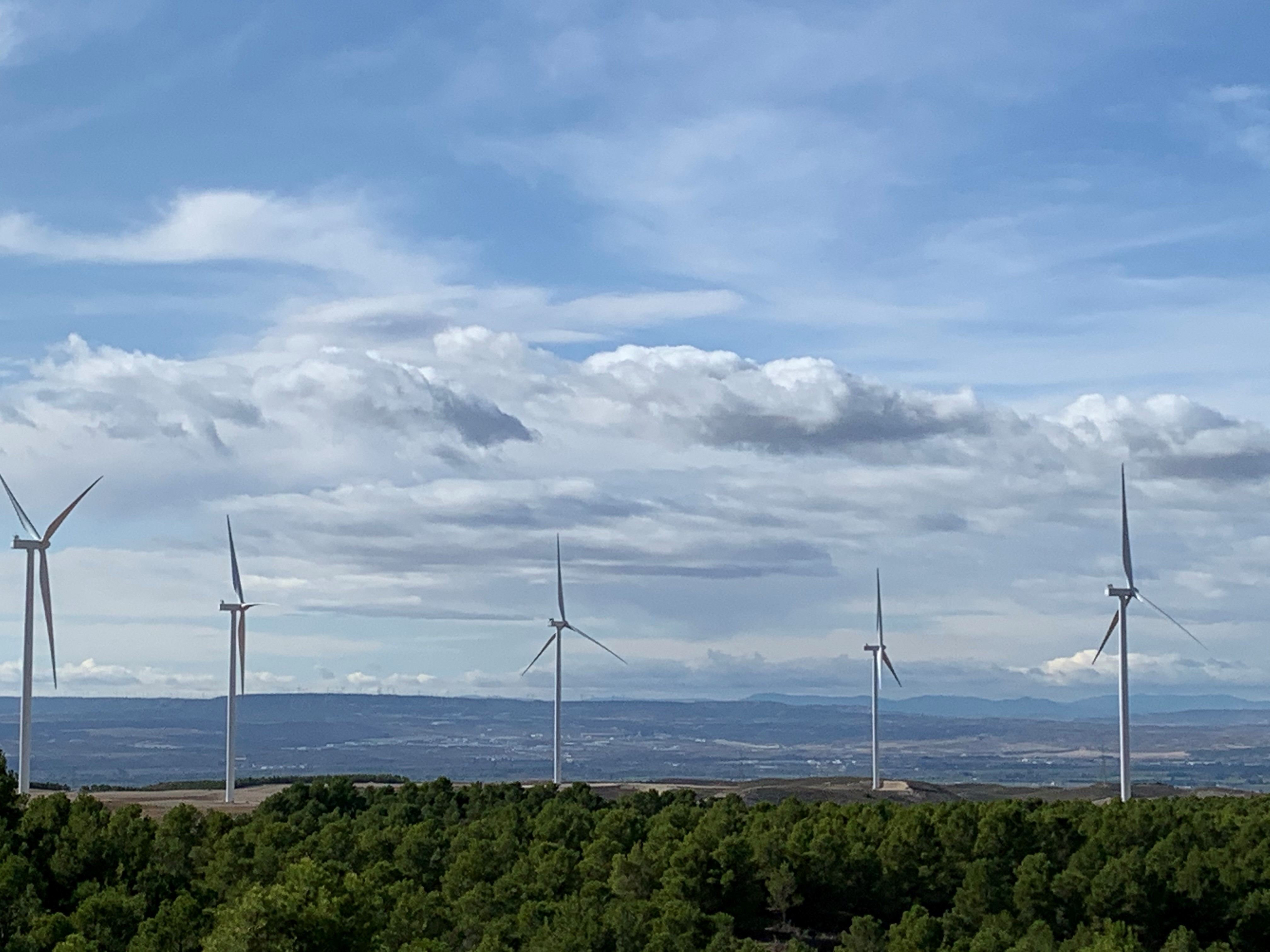 San Aguilón wind farm in Zaragoza