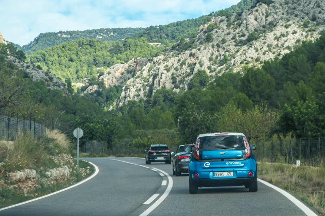 The journey to Soller begins. This is the start of the Sierra de Tramontana